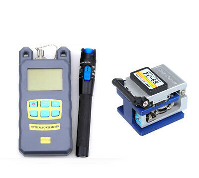 FTTH Tool Kit FC-6S Fiber Cleaver 1Mw Visual Fault Locator Optical Power Meter