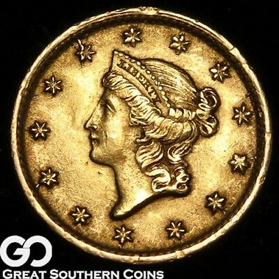 1854 Gold Dollar, $1 Gold Liberty, Type 1, BU++ ** Free Shipping!