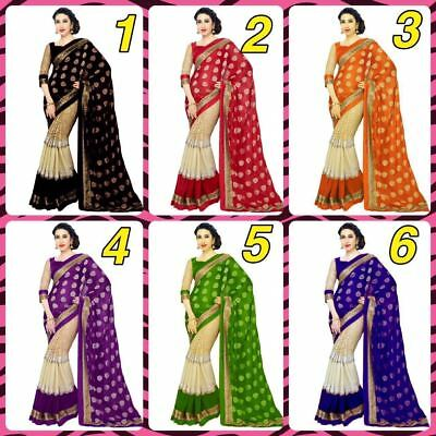Indian Ethnic Wedding Designer Saree Pakistani Party Wear Bollywood Sari Fab 1