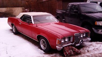 1972 mercury couger 2 Door Convertible, 351 Engine