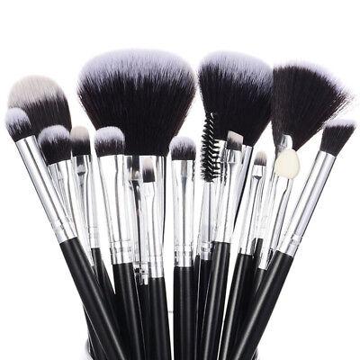 Professional15pcs Makeup Brushes Set Soft Synthetic Vegan Beauty Tools Kit