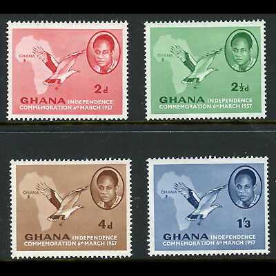 GHANA 1957 Independence. SG 166-169. Mint Never Hinged. (AB682)
