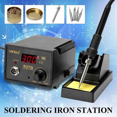 937D SMD 220V 75W Soldering Iron Station Welding Tool Stand Digital Display ESD