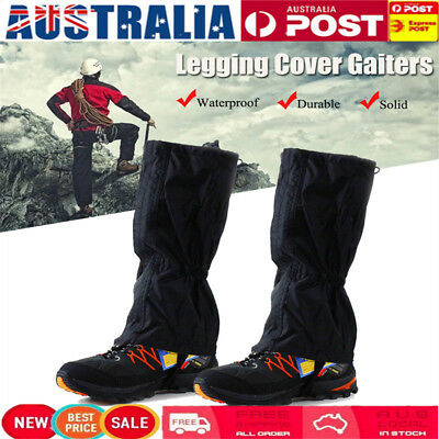 AU Waterproof Climbing Hiking Waterproof Legging Cover Boot Chaps Snake Gaiters