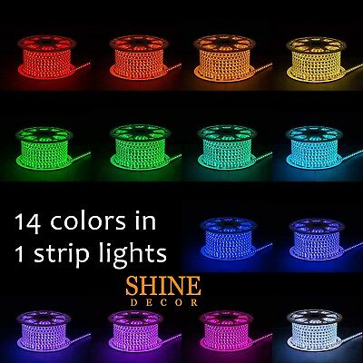 5050 Dimmable 110V 5m/16.4ft Led RGB Strip Light 60Leds/M for Indoor/Outdoor