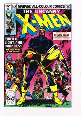 X-Men # 136 Child of Light and Darkness !  grade / 7.5 scarce book !!