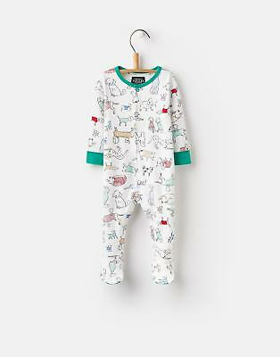 Joules 124716 Baby Boys All Over Print Babygrow Jersey in Pooches