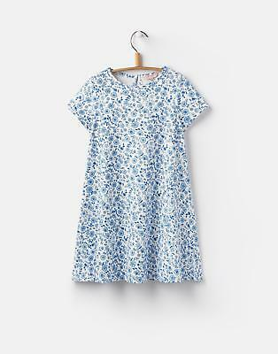 Joules Girls Short Sleeve Summer Dress in Folkstone Ditsy