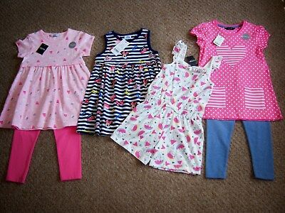 """BNWT 4-5 YRS GIRLS """"GEORGE"""" TOP & LEGGINGS OUTFITS & DRESS BUNDLE(next day post)"""