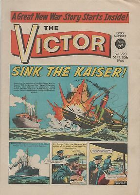 The Victor Comic - No 290 - 10th Sep 1966 -  LOVELY COPY!!