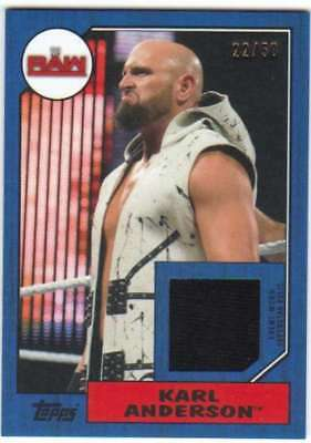 2017 Topps Heritage WWE Wrestling Shirt Relic Blue /50 #R-KA Karl Anderson