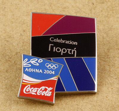 Greece Athens 2004 Olympic Games Coca-Cola Pin Celebration