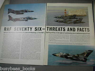 1976 article Royal Air Force, planes profiles cutaways