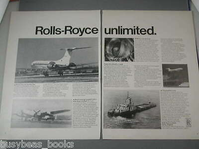 1971 Rolls Royce 2-page ad, RB.211 engine, Lancastrian