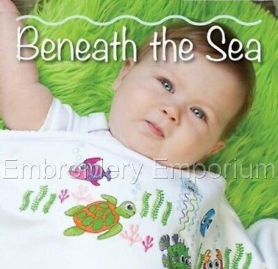 Beneath The Sea Collection - Machine Embroidery Designs On Cd