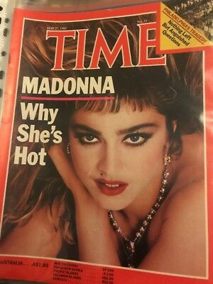 Vintage TIME MAGAZINE May 27, 1985 Madonna Why She's Hot 8pp Article