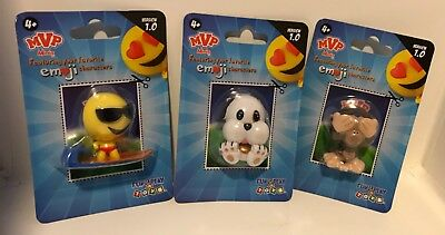 EmoJi Movie Characters Set 3 Collectible Figures Cake Toppers Party Birthday