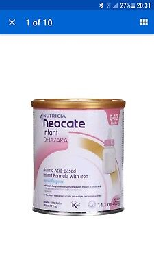 Neocate LCP Hypoallergenic 400g x4 new Tins Baby Formula (NEW) (20 Sep 2018)