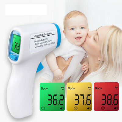 CO_ Baby Body Temperature Measurement Forehead Infrared LCD IR Thermometer Glitz