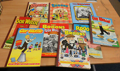 Collection of The Broons and Oor Wullie books