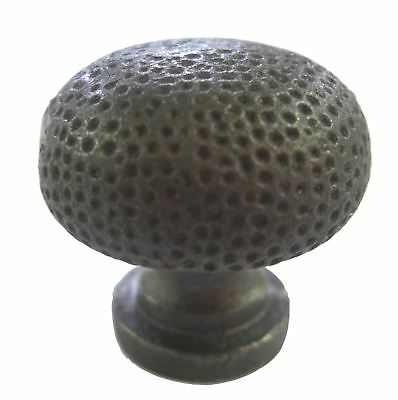 Cast Iron Self Colour Dimpled Cupboard Knob Pack of 12