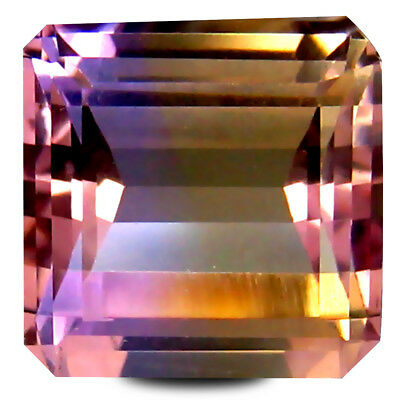 3.99 ct AAA+ Octagon Cut (9 x 9 mm) Purple and Yellow Ametrine Natural Gemstone