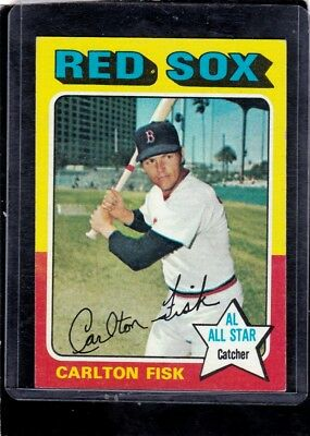 1975 Topps #80 Carlton Fisk Red Sox NM - MINT