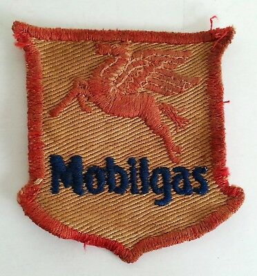 Early Vintage Mobilgas Uniform Patch Pegasus Gas Station Distressed Oil Company