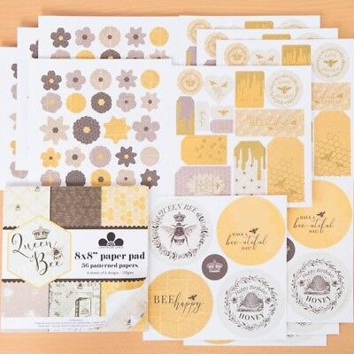Craftwork Cards Die Cut Foiled Flowers Toppers /& Sentiment Sheets Queen Bee