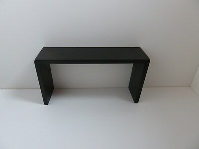 Dolls House Miniature 1:12th Scale Furniture Lounge Black Wooden Console Table
