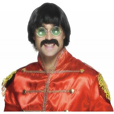 Sonny Bono Wig and Mustache Adult 70s Halloween Costume