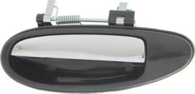 Rear Driver Side Black w/ Chrome Exterior Door Handle for 95-99 Nissan Maxima