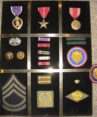 Identified Framed Medal Grouping, Combat Medic, 106th Division, from Estate Sale