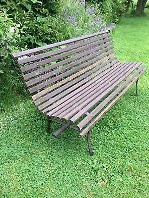 Magnificent Vintage Antique Wooden Garden Bench 78 00 Picclick Uk Caraccident5 Cool Chair Designs And Ideas Caraccident5Info