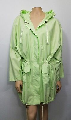 7b1ec9240726 Green Raincoat Parka unbranded Made in Italy SZ 44 EXCELLENT ! US SZ 12-14