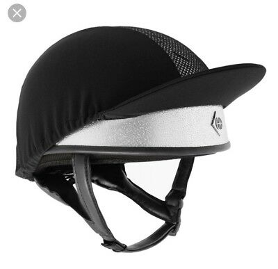 CHARLES OWEN Silver Pro II  Riding hat. Round fit Size 7 1/4 , 59cm