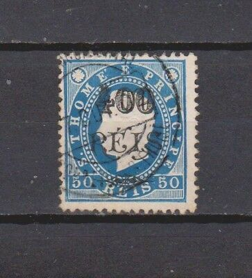 Portugal / S. Tomé - 1902 - K. Luis Surcharged - 400/50 R Stamp (2 Scans)