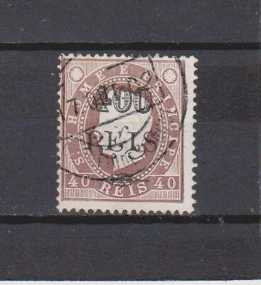 Portugal / S. Tomé - 1902 - K. Luis Surcharged - 400/40 R Stamp (2 Scans)