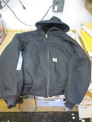 eb1f44413 NEW CARHARTT BLACK Mens Size Large Tall Quilted Canvas Jacket J140