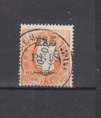 Portugal / S. Tomé - 1902 - K. Luis Surcharged - 115/300 R Stamp (2 Scans)