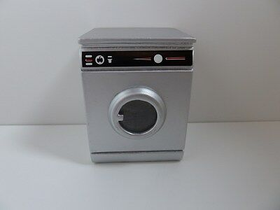 Dolls House Miniature 1:12th Scale Kitchen Appliance Silver Washing Machine