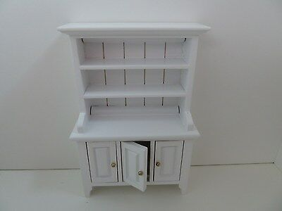 Dolls House Miniature 1:12th Scale Furniture Kitchen Dining Wooden White Dresser