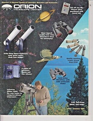 1994 Orion  Telescope Catalog - Celestron 2000, scopes, etc , 100 pages / f5