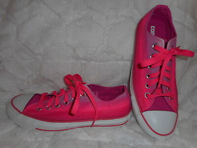Converse All Star Hot Pink Tie Dye Low Top Canvas Shoes Women's 7 Men's 5 New
