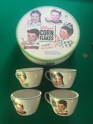 Set of 4 Norman Rockwell Kellogg's Corn Flakes Collectible Plates w/Storage Box