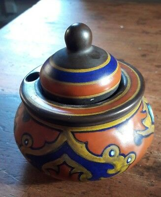 Stunning Vintage Gouda Pottery Ink Well