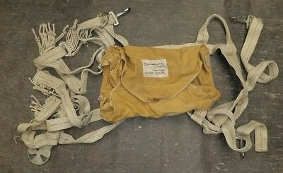 1964 Vintage Spanish Military Parachute Bag with Straps FREE SHIPPING