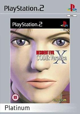 Resident Evil Code: Veronica X - Platinum (Sony PlayStation 2, 2002) Complete