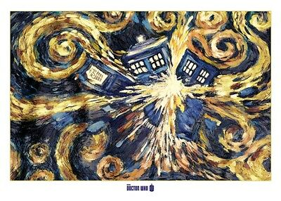 DOCTOR WHO - EXPLODING TARDIS - GIANT POSTER 55x40 - MURAL TV SHOW 52808