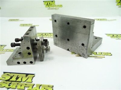Nice Pair Of Steel Precision Machinists Right Angle Blocks Plates